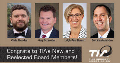 Tire Industry Association electsthree new members and re-elects a fourthto its board of directors.